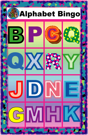 Letters, Reading, and Language Arts Bingo Games