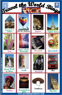 Travel the World Bingo for Adults